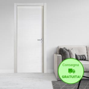 Porta a Battente Reversibile GIRA Melaminico Color Frassino Bianco h. 210 cm - 3 Dimensioni