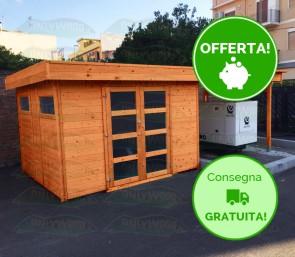 Casetta con pergola in legno ROCHERA 603 x 245 cm