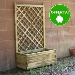 Fioriera con Grigliato ECO in legno Impregnato 80 x 40 x 135 h.cm