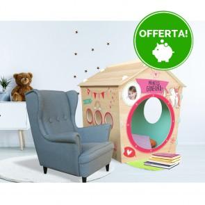 Casetta in legno da Indoor per bambini PRINCESS