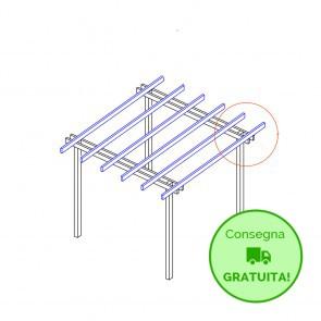 Pergola  BASIC autoportante 400x400 legno classe 3 - portata 50 Kg - ANCHE SU MISURA