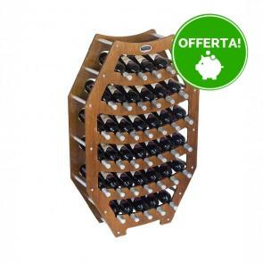 """Cantinetta in legno noce in kit """"Ottagono"""" - 36 bottiglie"""