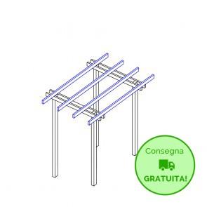Pergola  BASIC autoportante 300x210 legno classe 4 - portata 50 Kg - ANCHE SU MISURA