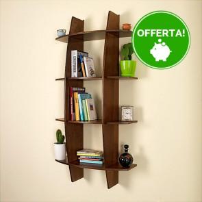 Libreria componibile in legno FANTASIA - 75 x 30 x 150h cm - finitura Noce