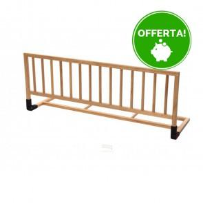 Sponda di sicurezza per letto in legno naturale