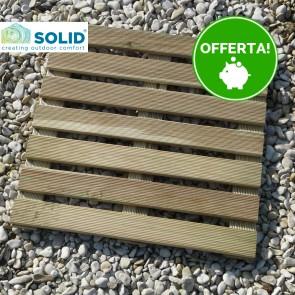 Piastrella zigrinata 50x50 Pino Impregnato 2,8 cm - Pavimento da esterno