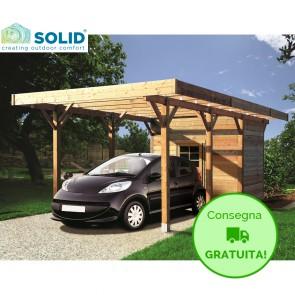 Carport + Ripostiglio in legno IMPREGNATO 7 x 3 metri