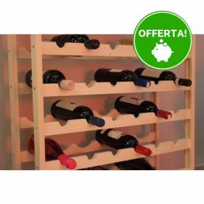 Scaffale Portabottiglie CANTINETTA in legno 60 x 25 x 65 h. cm - 20 Bottiglie