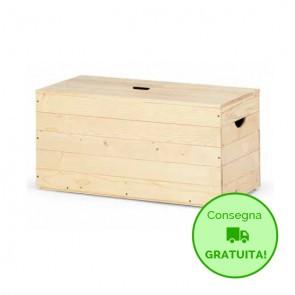 Cassapanca in legno da interno BOX 60 - 60 x 35 x 35h cm - Spessore 12 mm