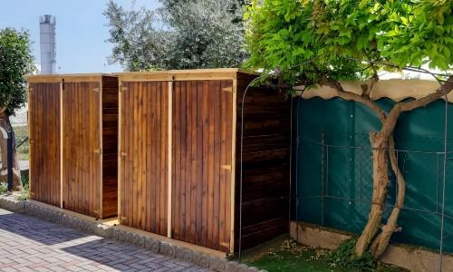 Armadio ripostiglio in legno da esterno