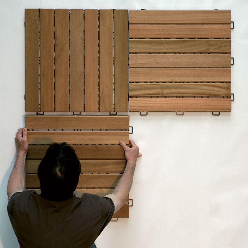 Mattonella in legno autoposante pavimento da esterno