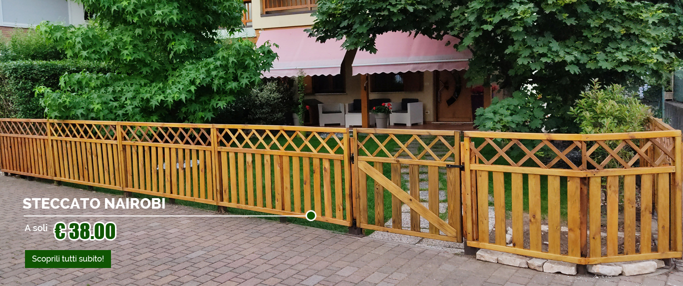 Steccato in legno a pannelli