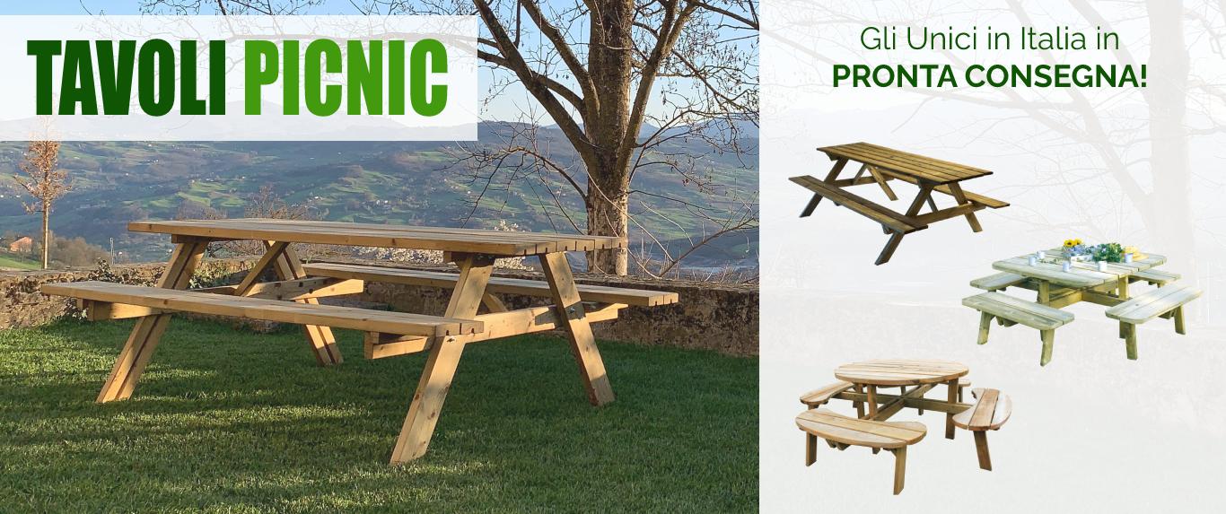 Tavoli picnic in pronta consegna