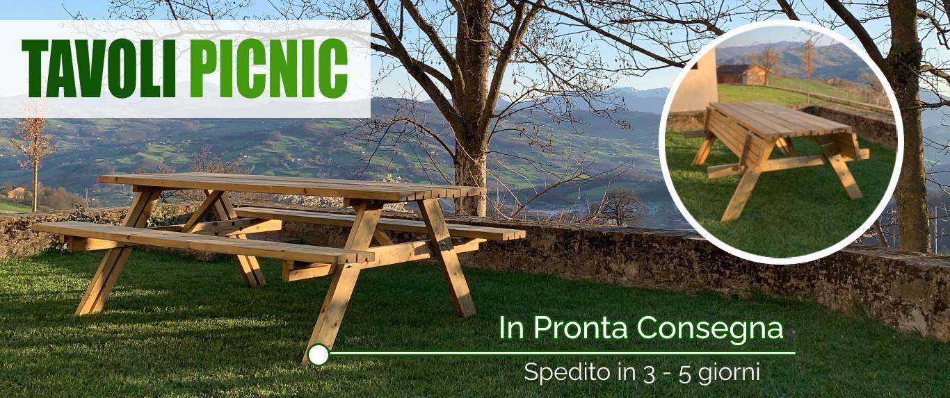 Tavoli picnic in legno