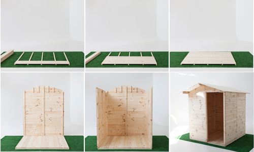 Montaggio casette in legno