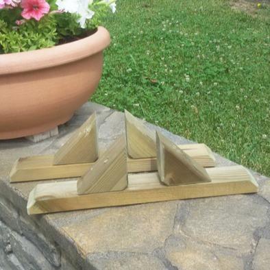Piedistallo per steccati in legno