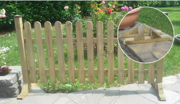 Posa a terra dello  steccato senza intervenire sul terreno