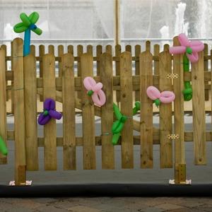 Steccato in legno rialzato