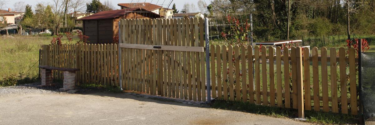 Steccato o Recinzione in legno personalizzata