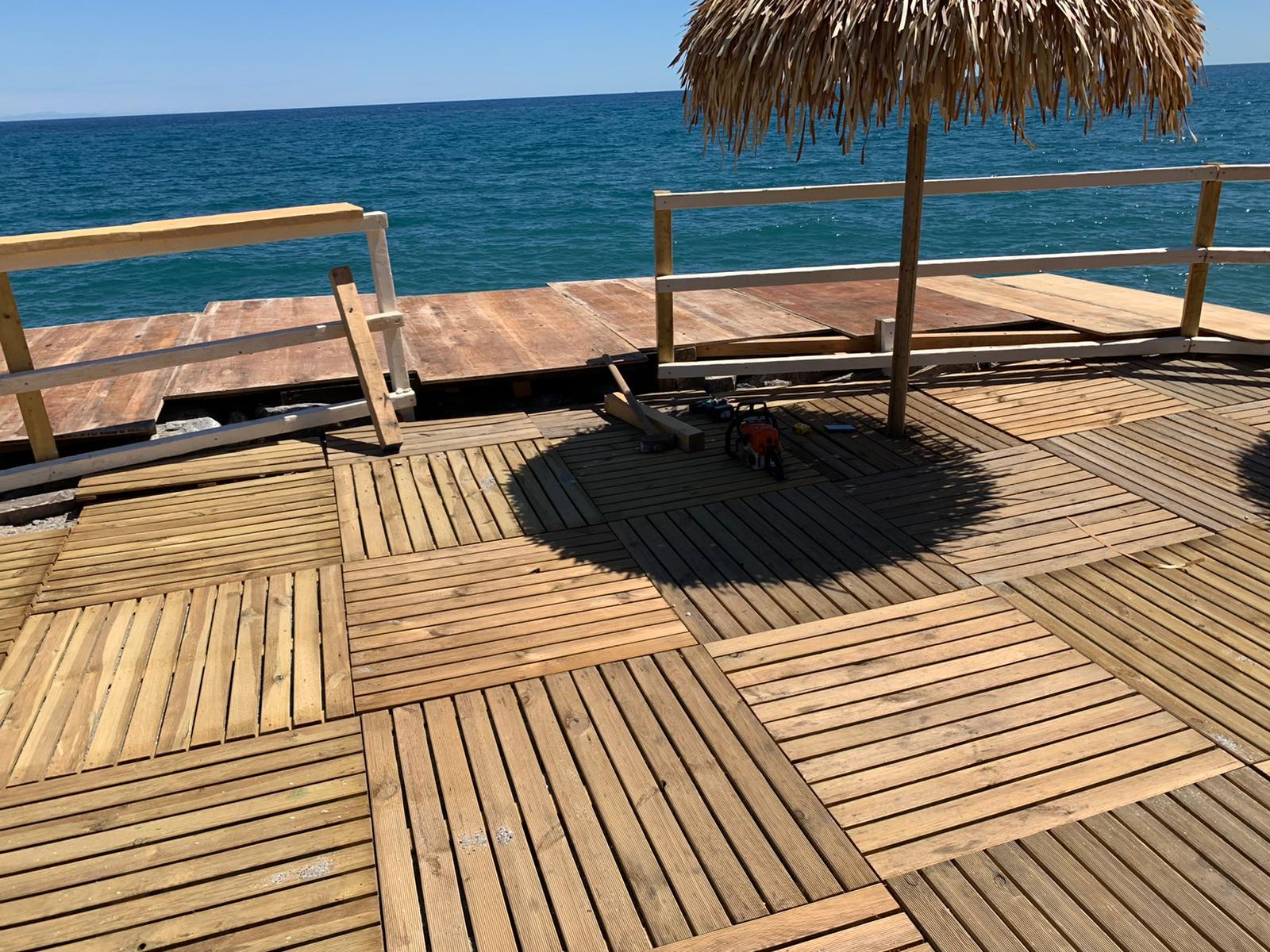 Pavimento da esterno in legno